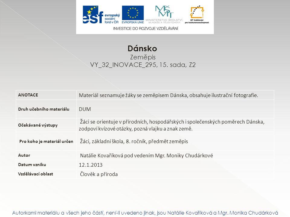 Dánsko Zeměpis VY_32_INOVACE_295, 15. sada, Z2
