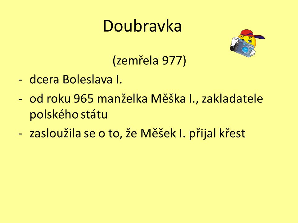 Doubravka (zemřela 977) dcera Boleslava I.