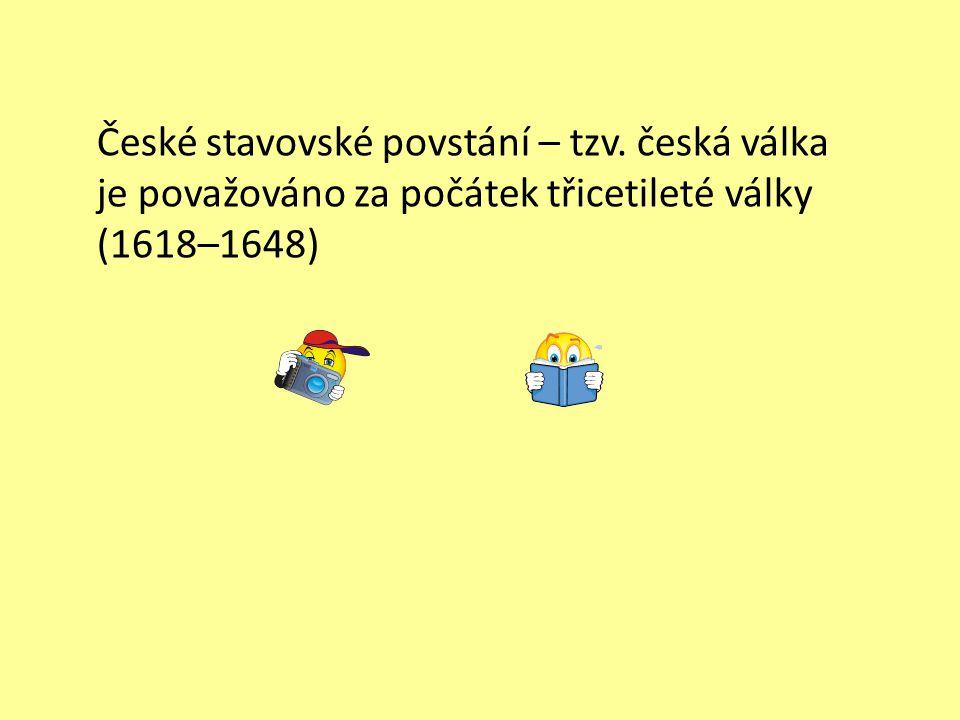 České stavovské povstání – tzv