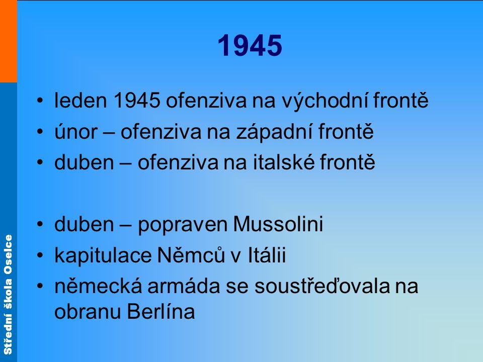 1945 leden 1945 ofenziva na východní frontě