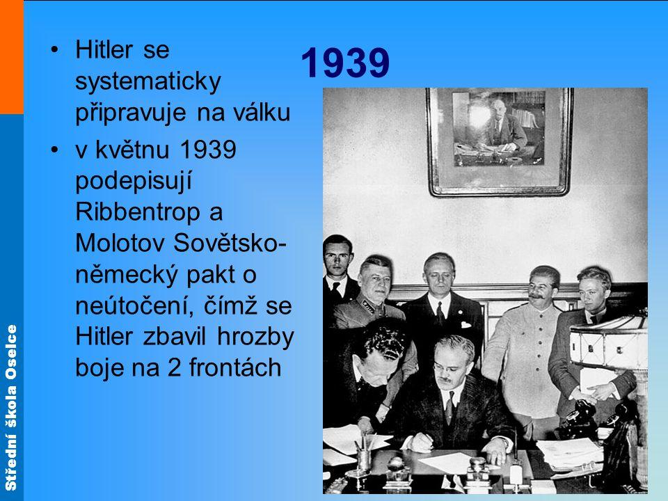 1939 Hitler se systematicky připravuje na válku