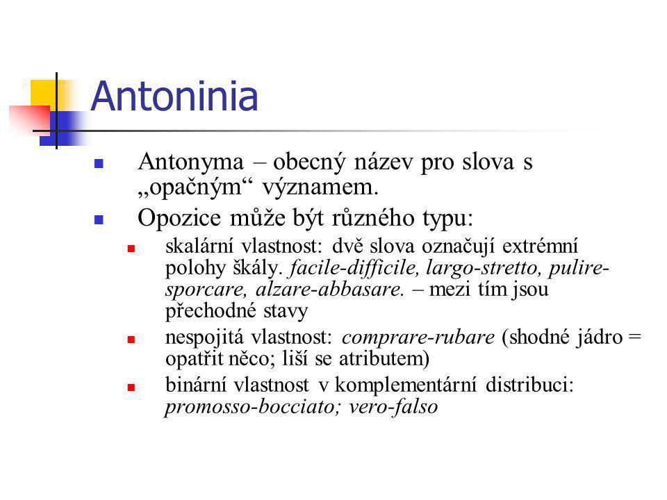 """Antoninia Antonyma – obecný název pro slova s """"opačným významem."""