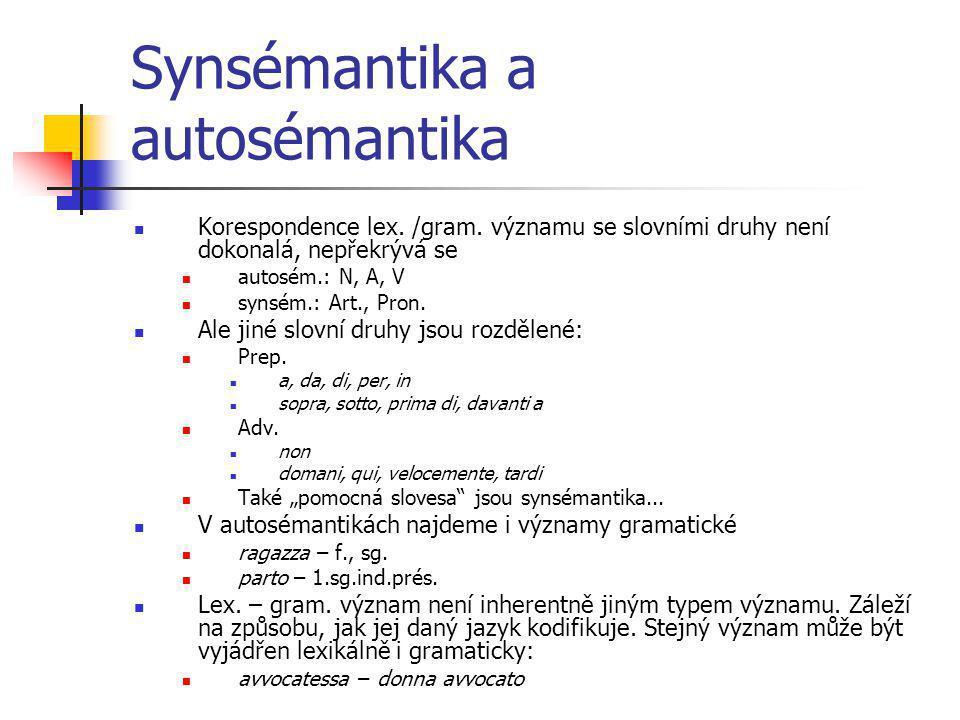 Synsémantika a autosémantika