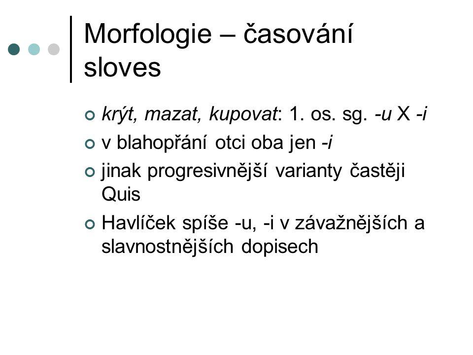 Morfologie – časování sloves