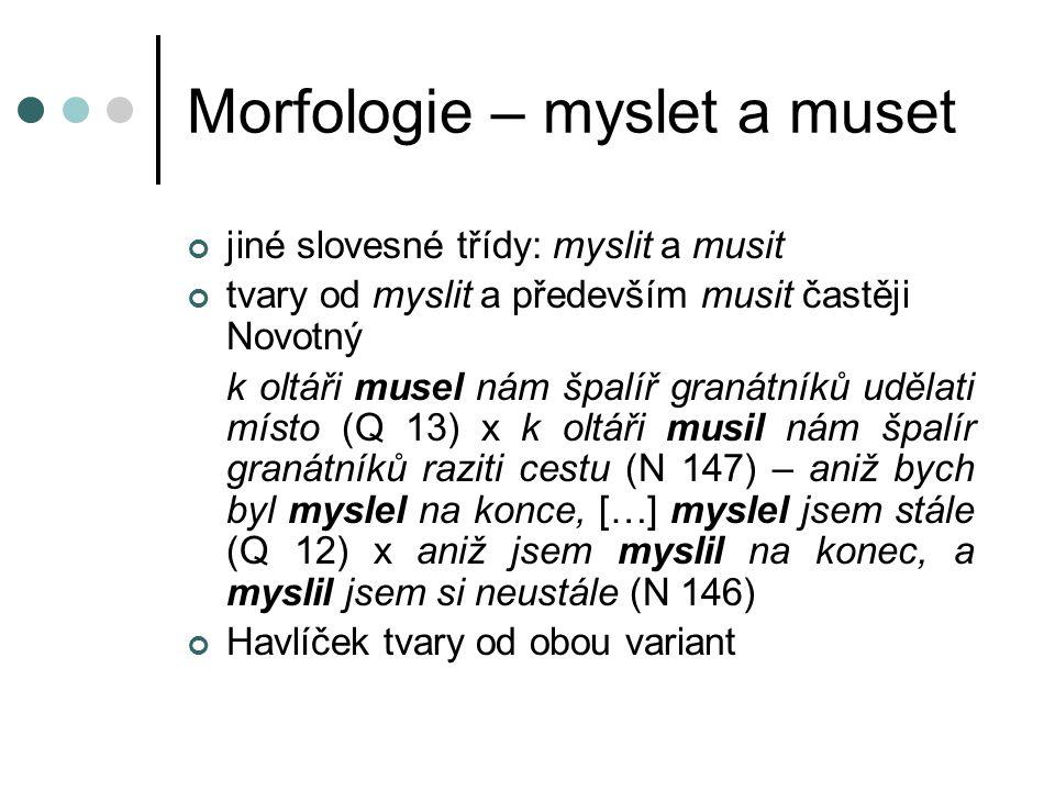 Morfologie – myslet a muset