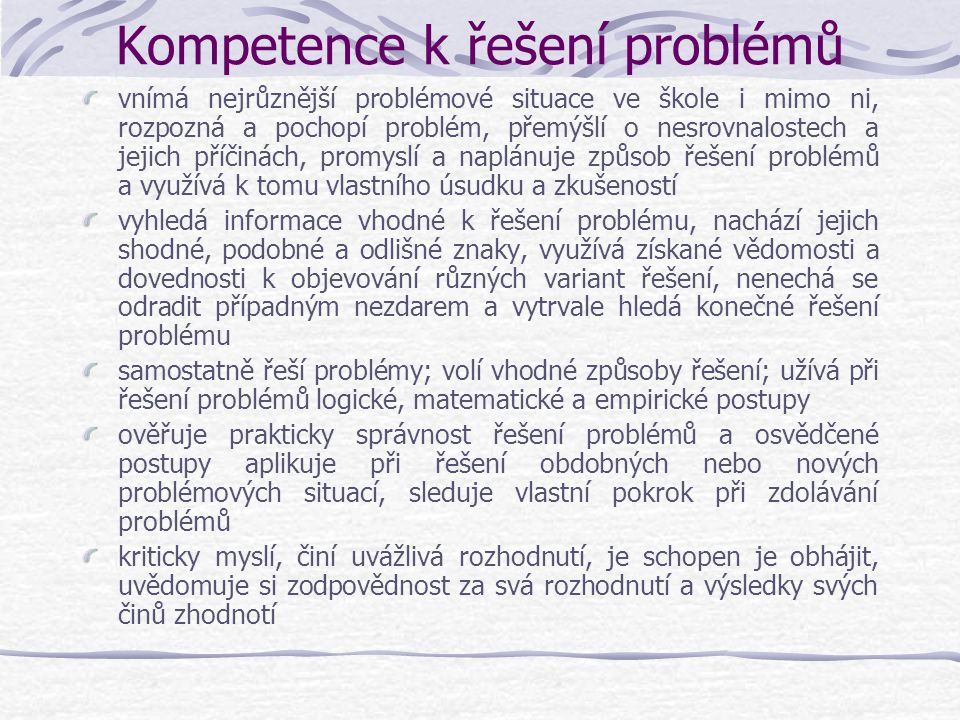 Kompetence k řešení problémů