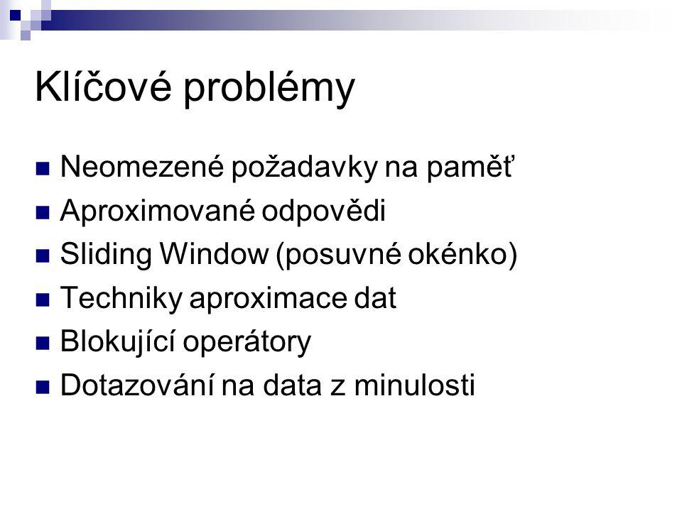 Klíčové problémy Neomezené požadavky na paměť Aproximované odpovědi
