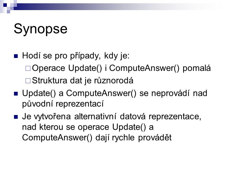 Synopse Hodí se pro případy, kdy je:
