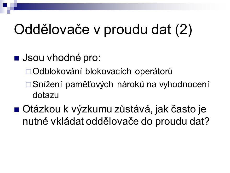 Oddělovače v proudu dat (2)