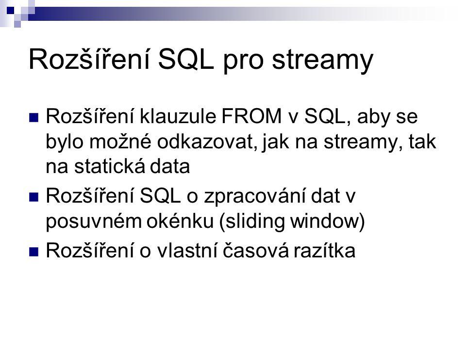 Rozšíření SQL pro streamy