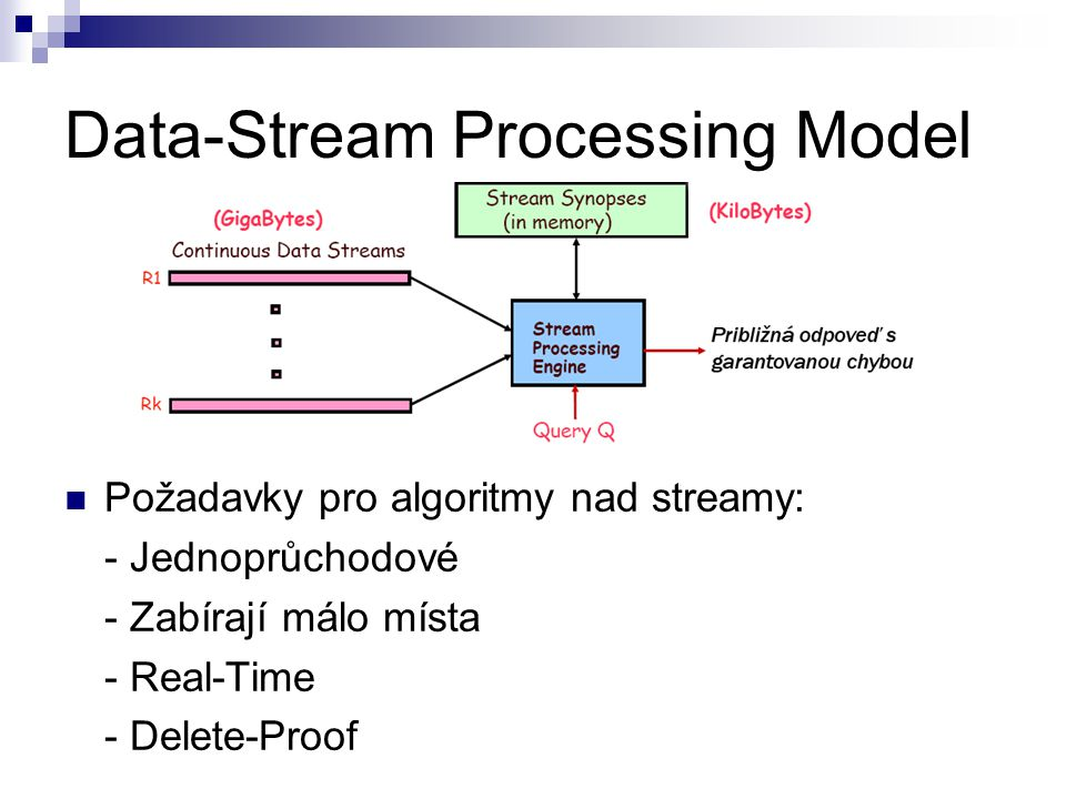 Data-Stream Processing Model