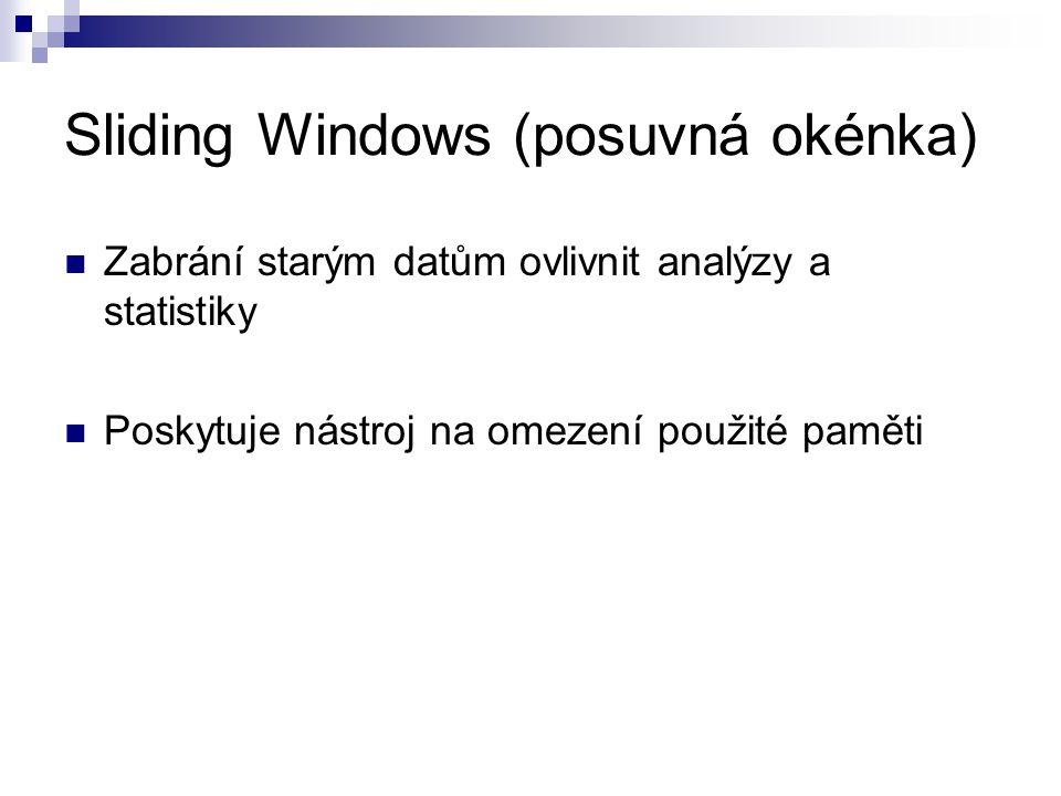 Sliding Windows (posuvná okénka)