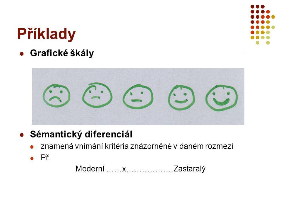 Příklady Grafické škály Sémantický diferenciál