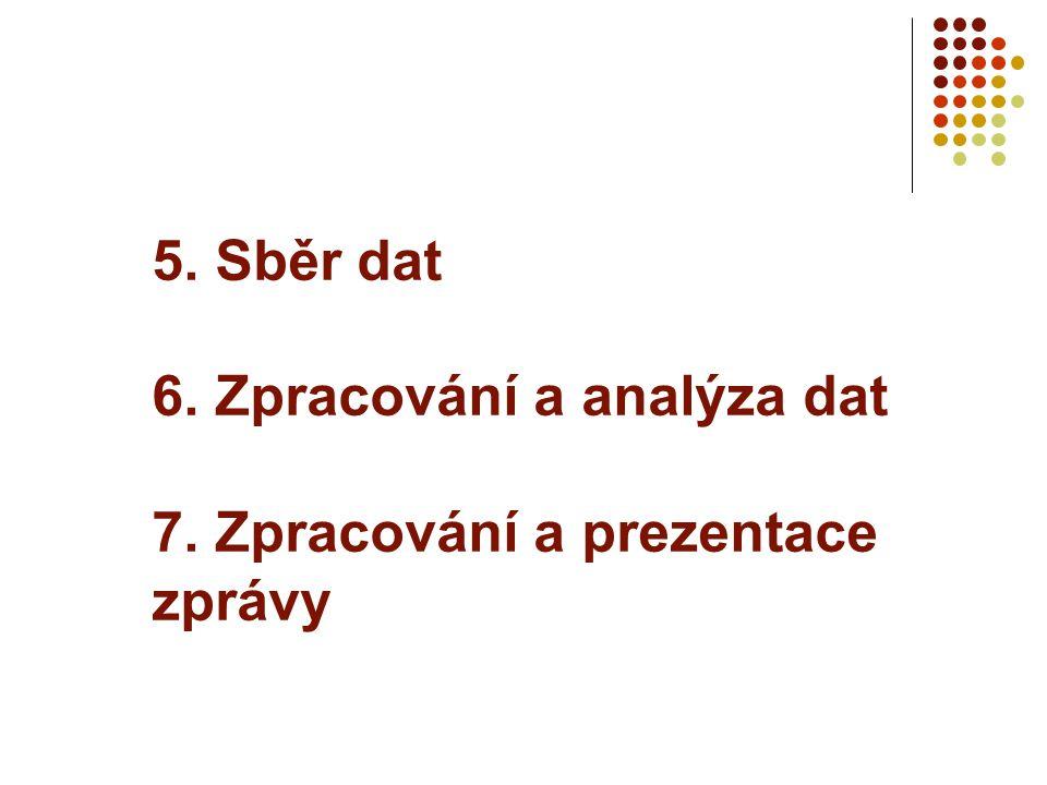 5. Sběr dat 6. Zpracování a analýza dat 7