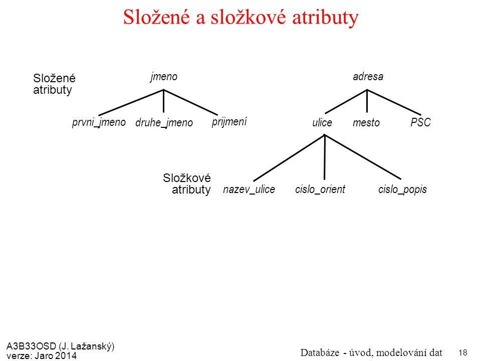 Složené a složkové atributy