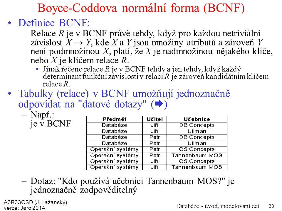 Boyce-Coddova normální forma (BCNF)