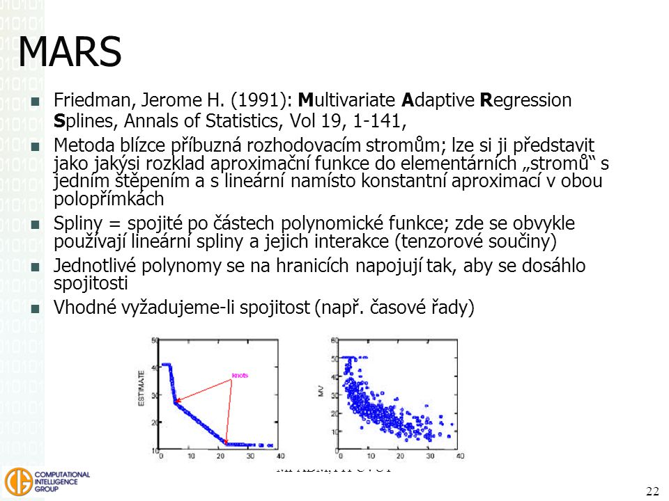SPSS Inc. MARS. Friedman, Jerome H. (1991): Multivariate Adaptive Regression Splines, Annals of Statistics, Vol 19, 1-141,