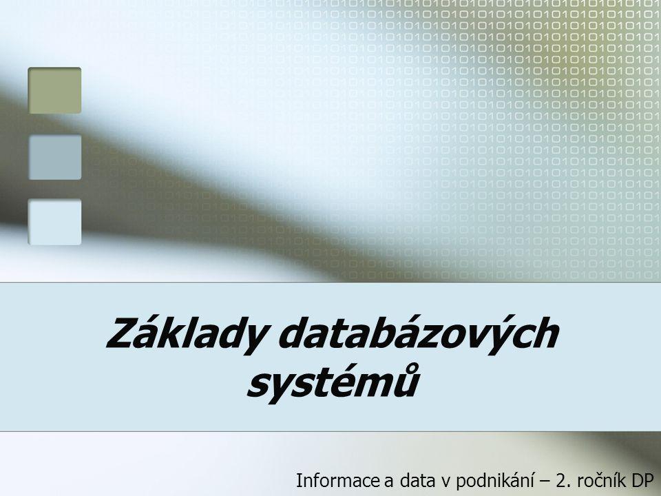 Základy databázových systémů