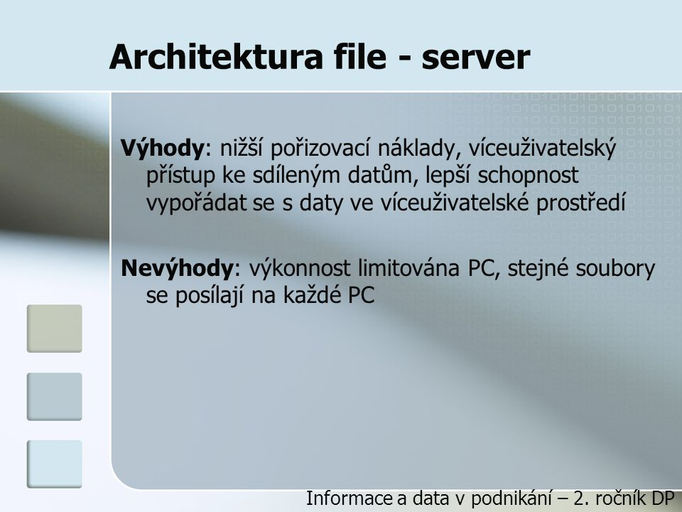 Architektura file - server