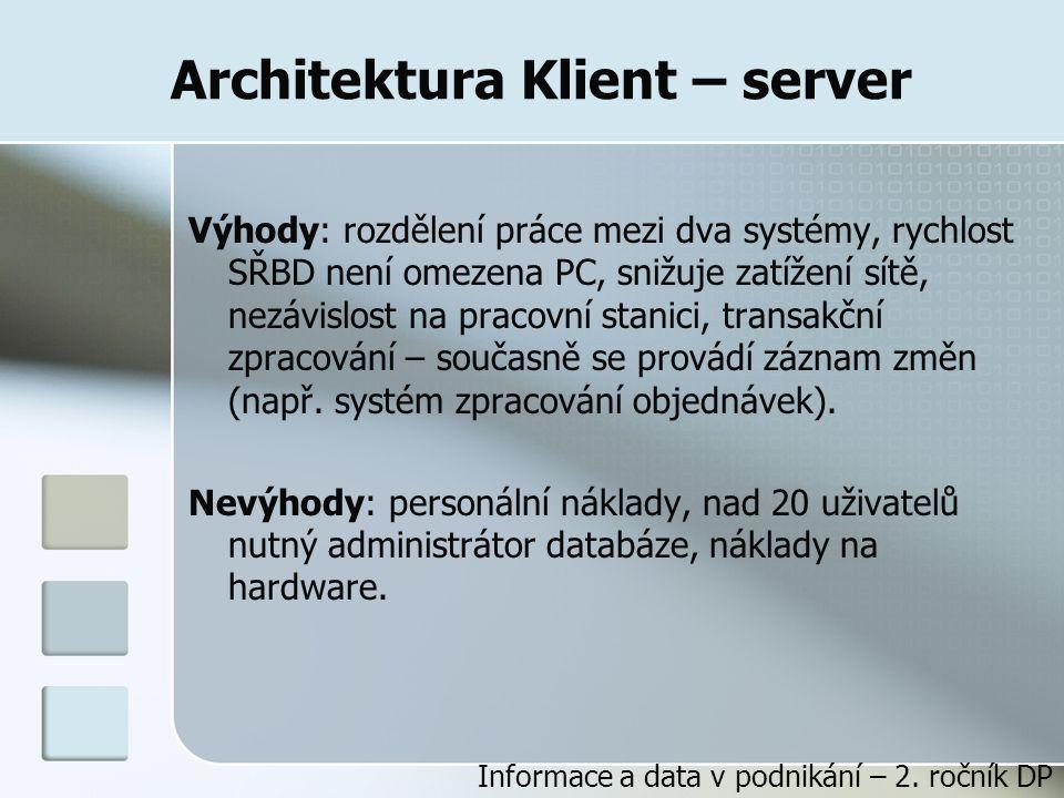 Architektura Klient – server