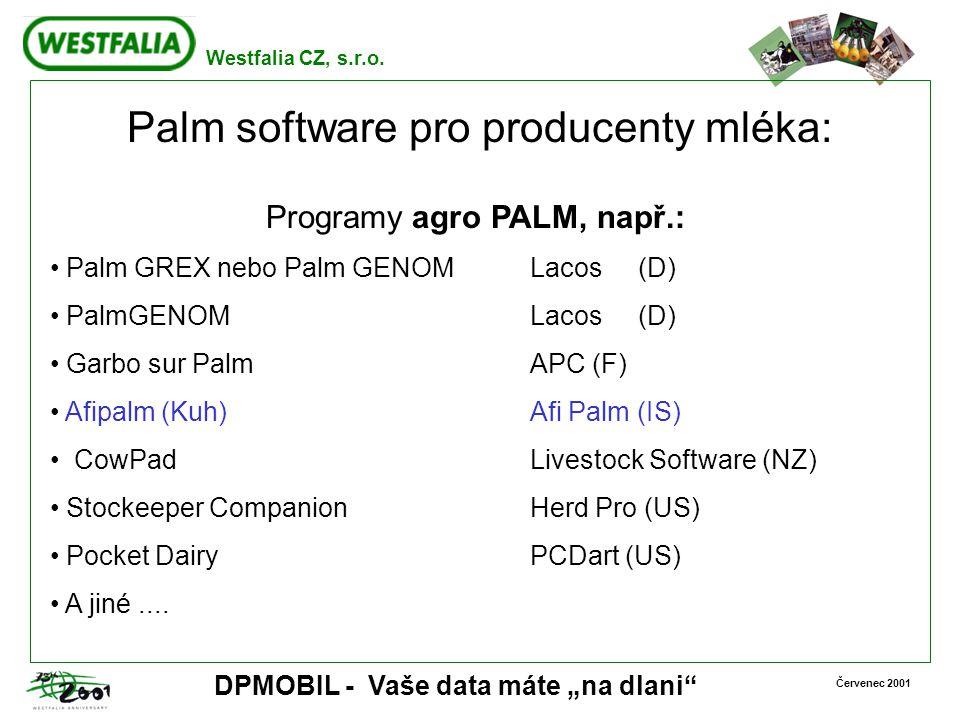 Palm software pro producenty mléka: