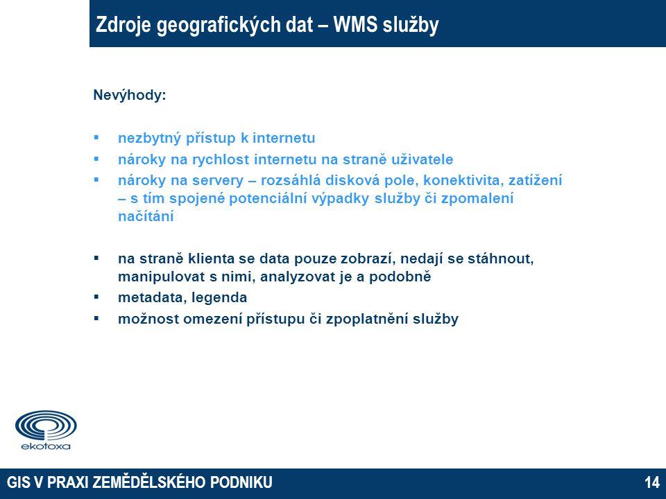 Zdroje geografických dat – WMS služby
