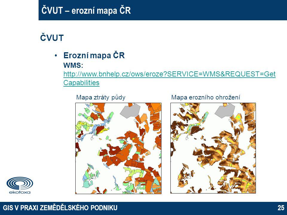 ČVUT – erozní mapa ČR ČVUT