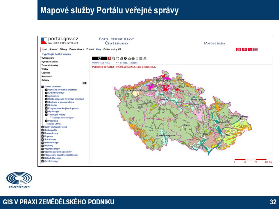 Mapové služby Portálu veřejné správy