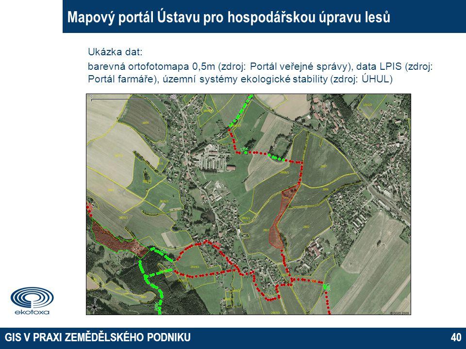 Mapový portál Ústavu pro hospodářskou úpravu lesů