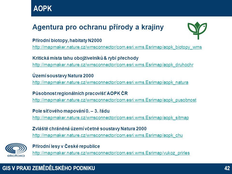 AOPK Agentura pro ochranu přírody a krajiny