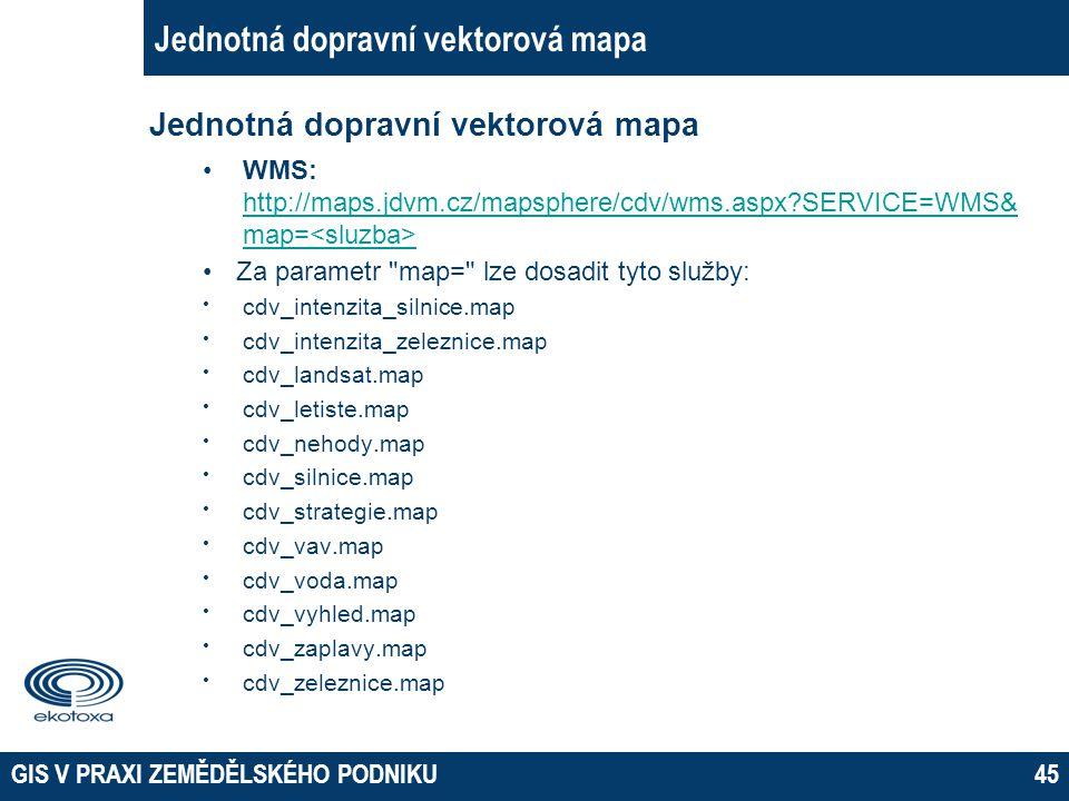 Jednotná dopravní vektorová mapa