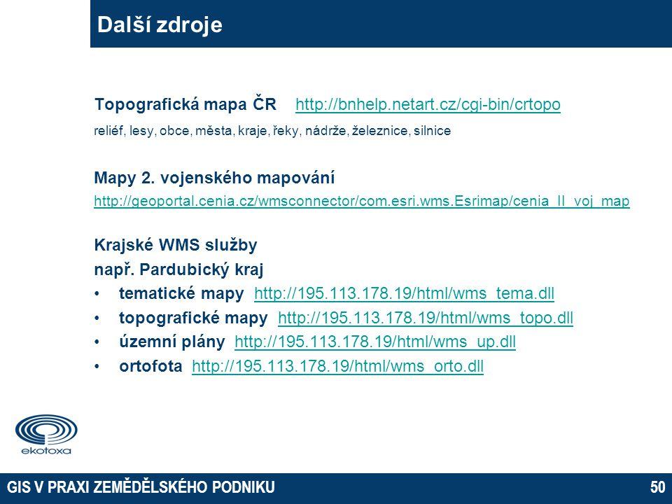 Další zdroje 05 April 2017. Topografická mapa ČR http://bnhelp.netart.cz/cgi-bin/crtopo.