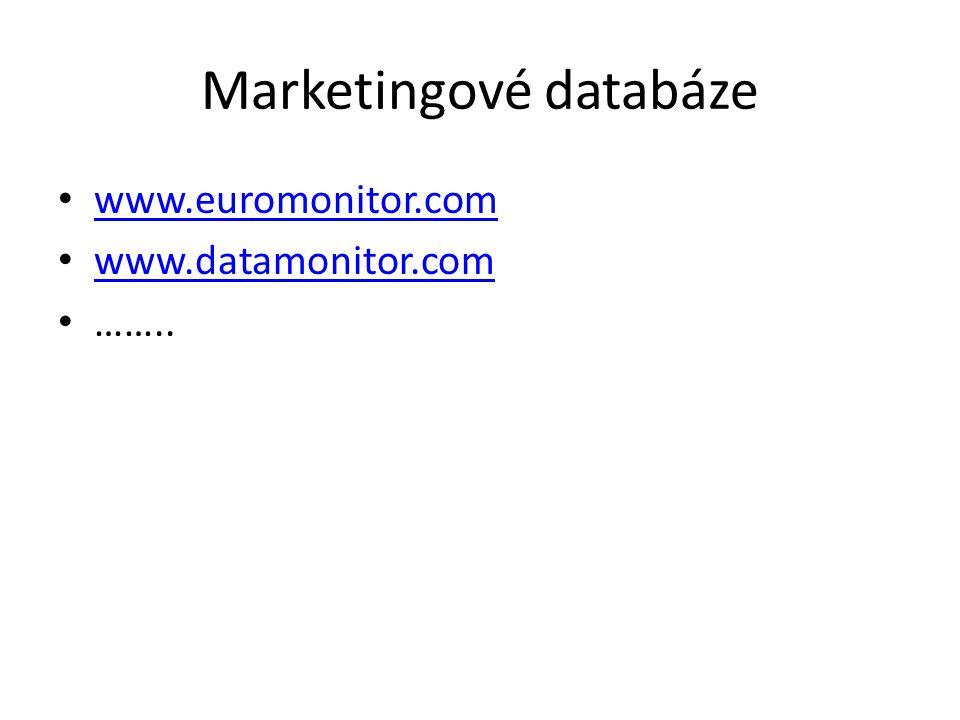 Marketingové databáze