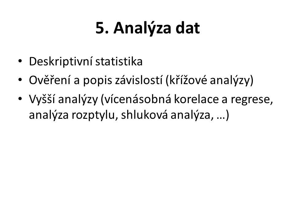 5. Analýza dat Deskriptivní statistika