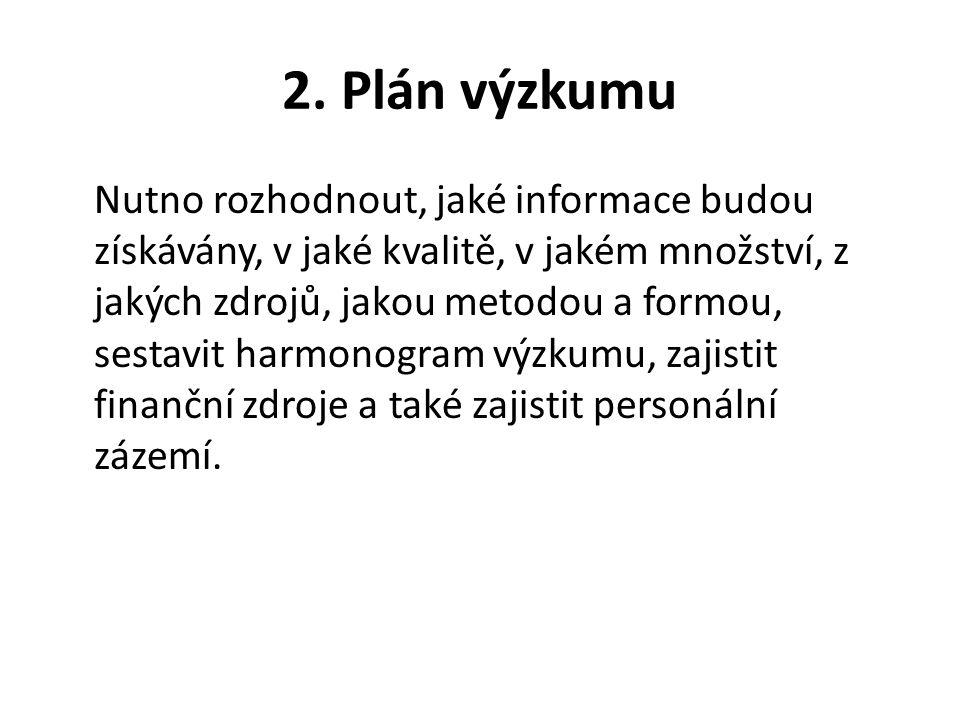 2. Plán výzkumu