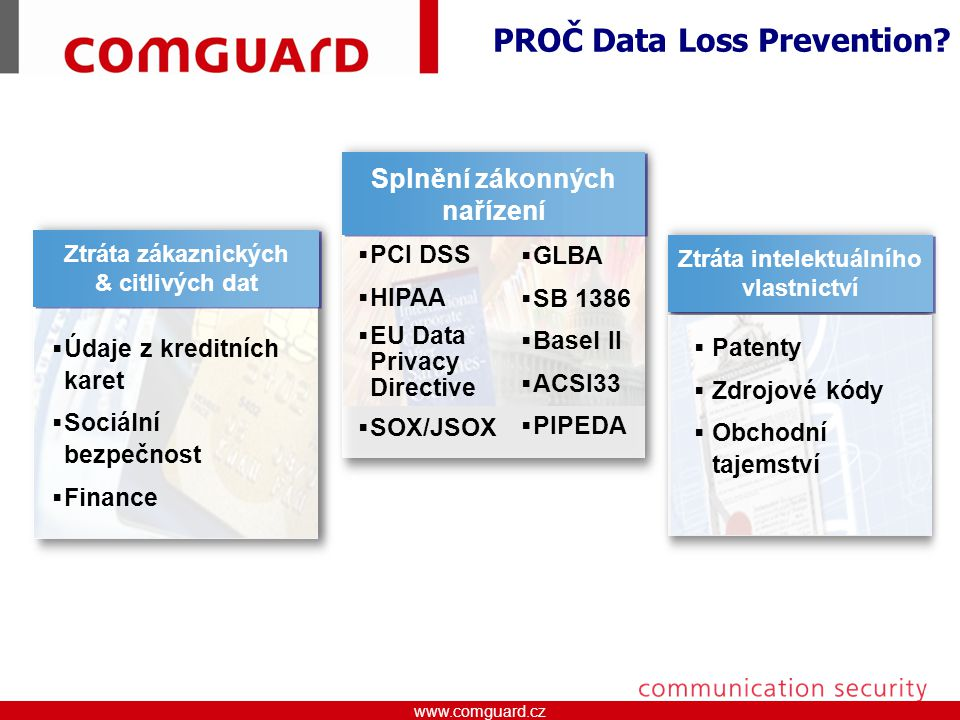 PROČ Data Loss Prevention