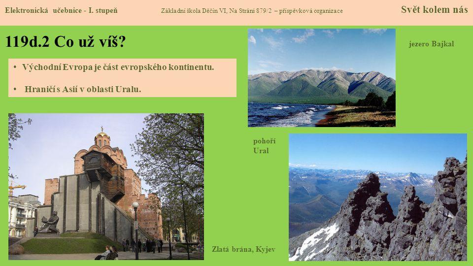 119d.2 Co už víš Východní Evropa je část evropského kontinentu.