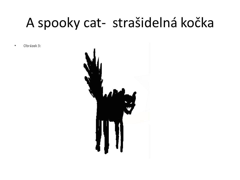A spooky cat- strašidelná kočka