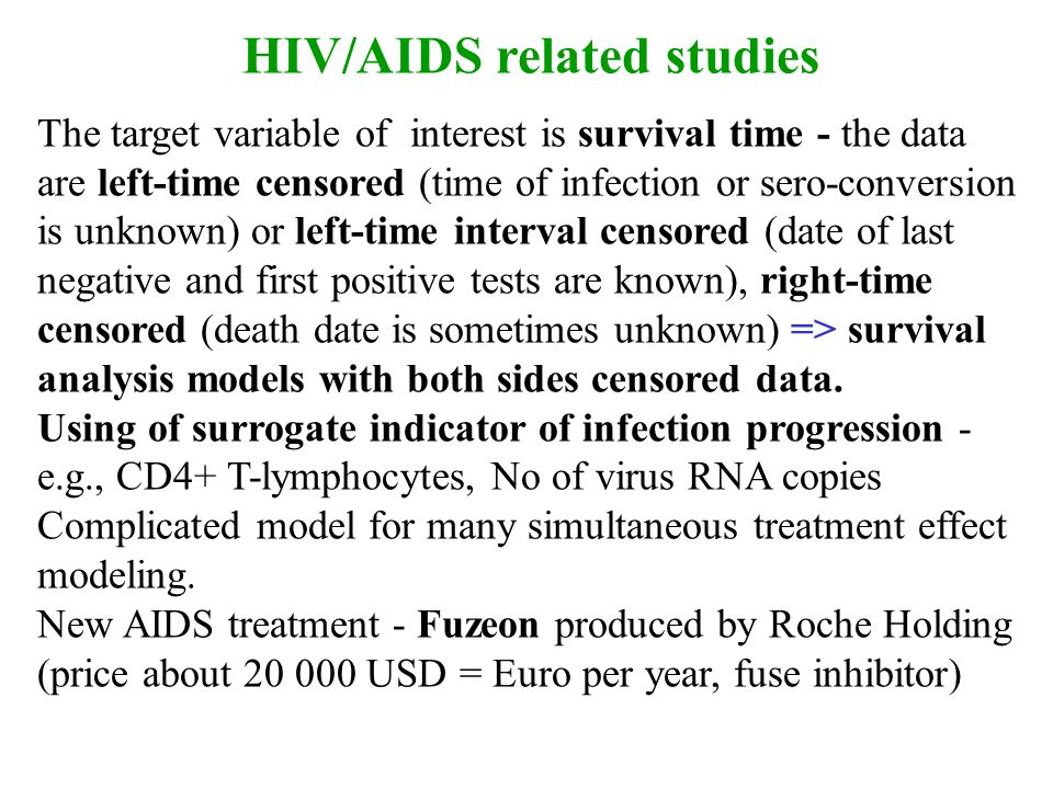 HIV/AIDS related studies