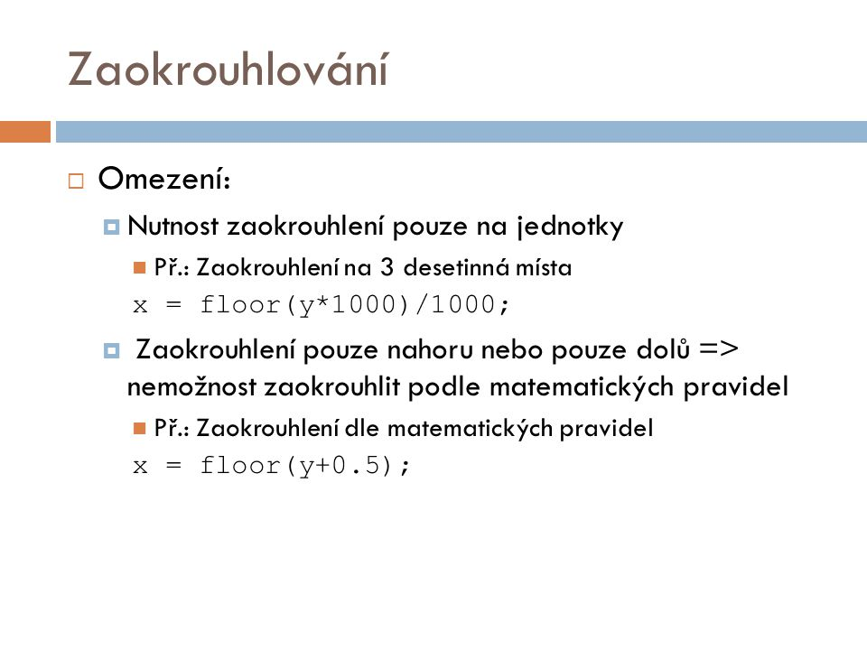 Standardn 237 Knihovn 237 Funkce Matematika A Datum A čas Ppt