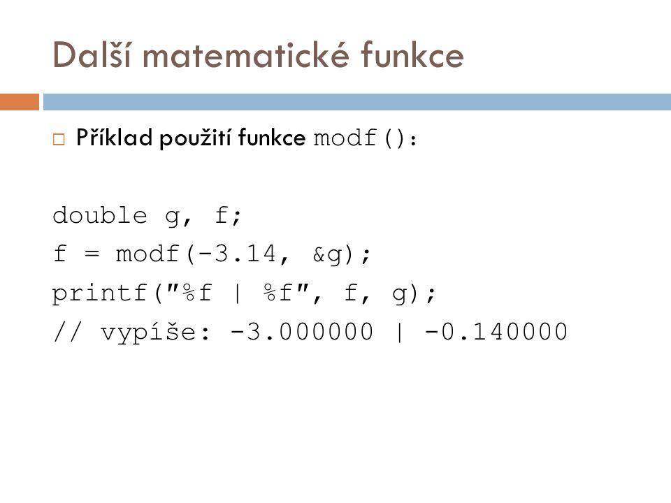 Další matematické funkce