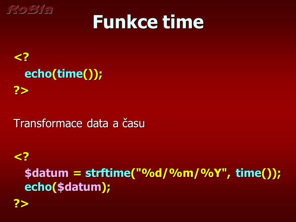 Funkce time <.