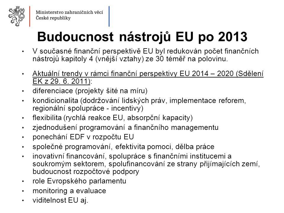 Budoucnost nástrojů EU po 2013