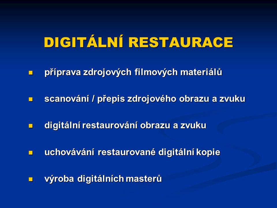 DIGITÁLNÍ RESTAURACE příprava zdrojových filmových materiálů