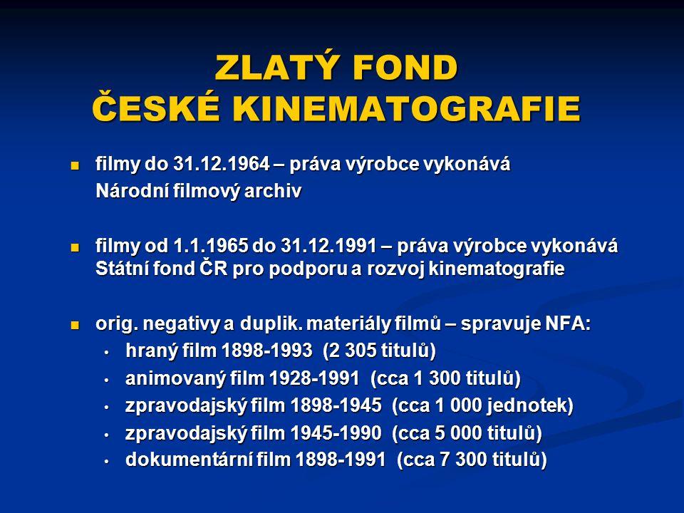 ZLATÝ FOND ČESKÉ KINEMATOGRAFIE