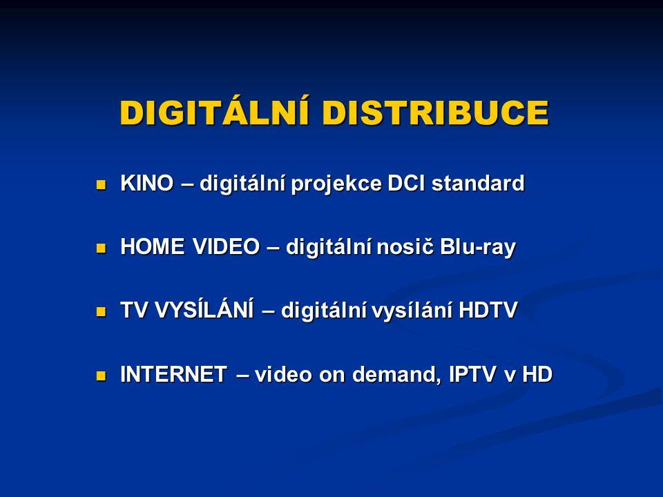 DIGITÁLNÍ DISTRIBUCE KINO – digitální projekce DCI standard