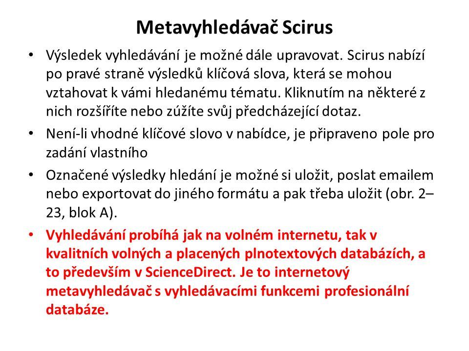 Metavyhledávač Scirus