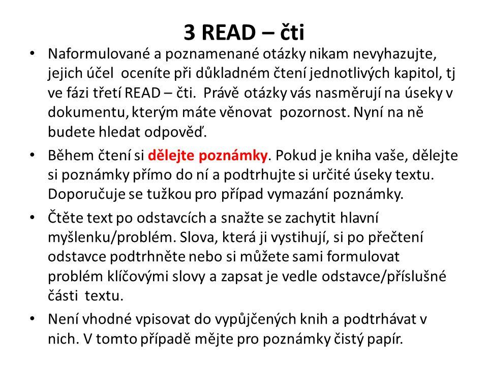 3 READ – čti