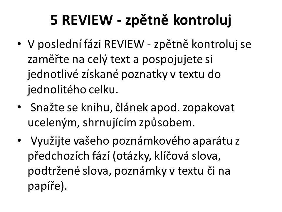 5 REVIEW - zpětně kontroluj