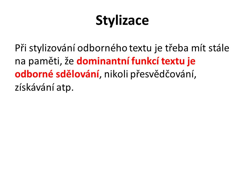 Stylizace